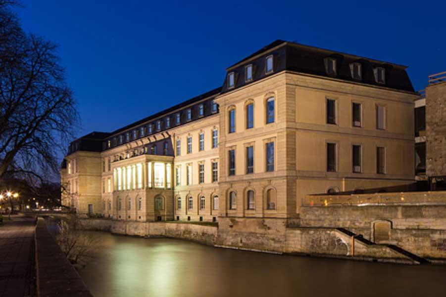 El palacio o castillo del Leine, conocido en alemán como Leineschloss (Public Domain)