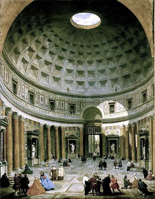 Interior del Panteón de Roma, óleo de Giovanni Paolo Panini (Dominio público)