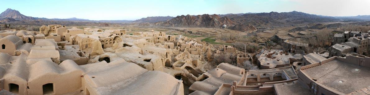 Vista panorámica de la Ciudad Vieja de Kharanaq, en Irán. (Ben and Asho / Flickr)