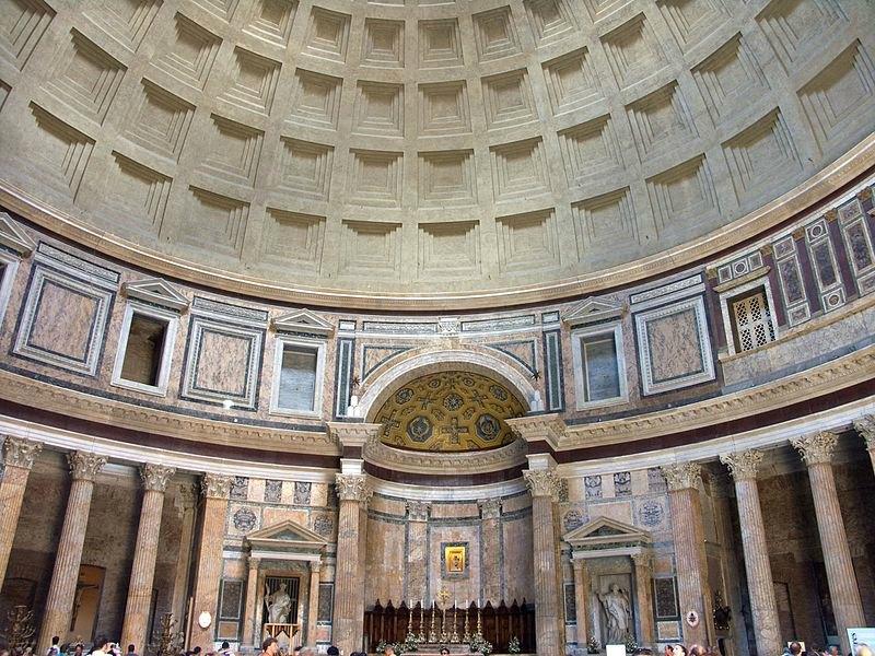 Interior del panteón de Roma (Jean-Christophe BENOIST/GNU Free)