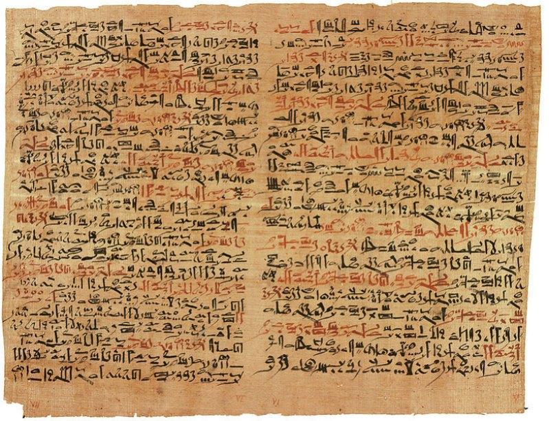 Fragmento del papiro Edwin Smith. Museo Metropolitano de Arte de Nueva York, Estados Unidos (Dominio público)