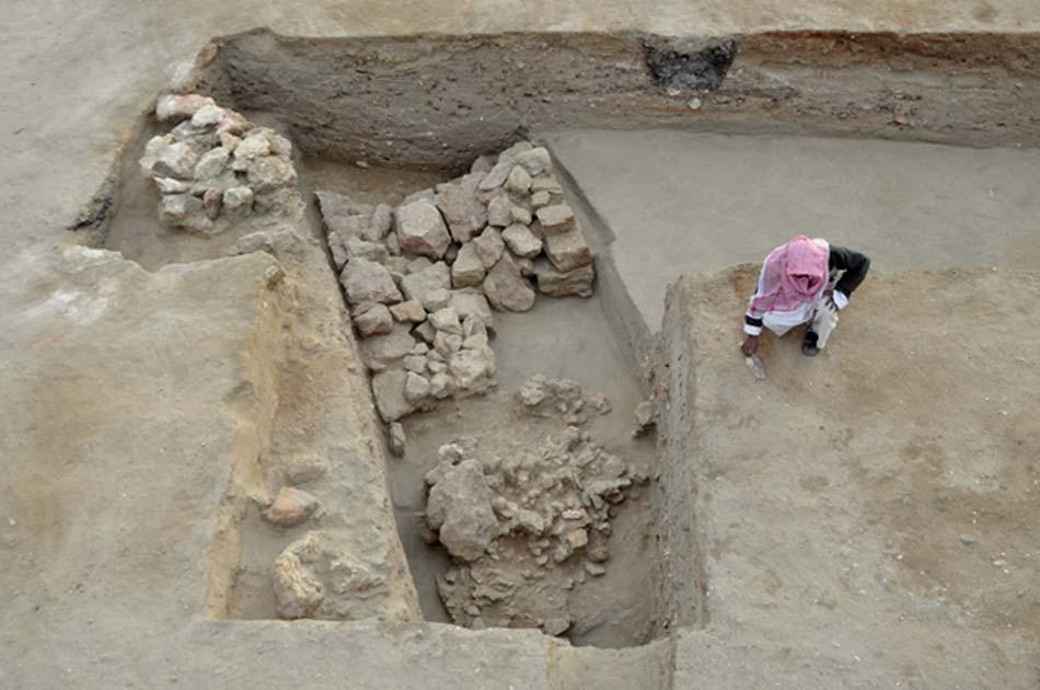 Parte de la fortaleza descubierta recientemente en Berenike, antiguo puerto egipcio a orillas del mar Rojo. Crédito: S.E. Sidebotham/Universidad de Cambridge