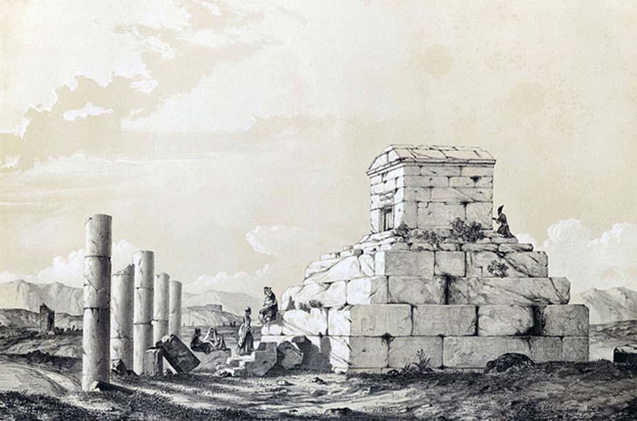 'Pasargada', Eugène Flandin, 1840. (Public Domain)