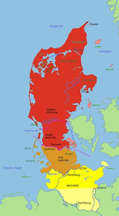 Península de Jutlandia, la región en la que fue hallada la momia. (CC BY-SA 3.0)