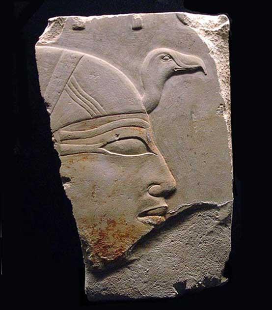 Perfil de Anjenespepi II hallado en su templo funerario. (CC by SA 2.0)