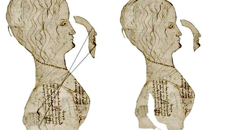 Leonardo habría ocultado su propio perfil bajo la axila de este retrato de una joven aristócrata. (Fotografía: ABC)