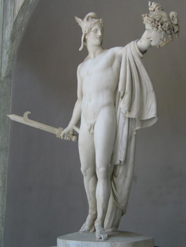 Perseo contempla la cabeza de Medusa en una escultura del año 1801 de Antonio Canova. (Wikimedia Commons)