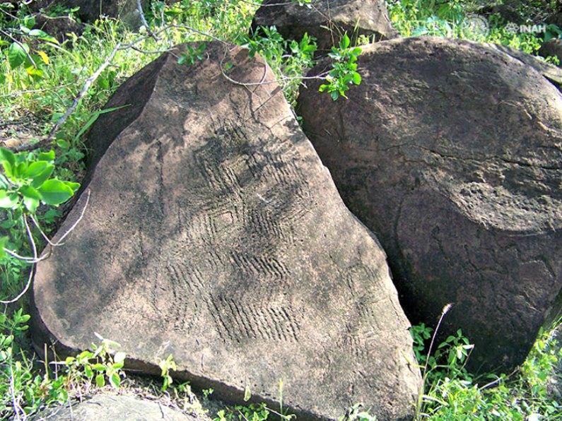 Petroglifos descubiertos en el municipio mexicano de General Terán, Nuevo León. (Fotografía: Araceli Rivera/INAH)