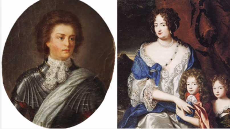 Retratos de Philip Königsmarck y Sofía Dorotea (Universidad de Lund)