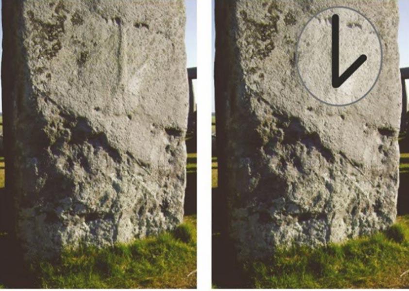 Símbolo labrado sobre la Piedra 53. Fotografías: Lloyd Matthews