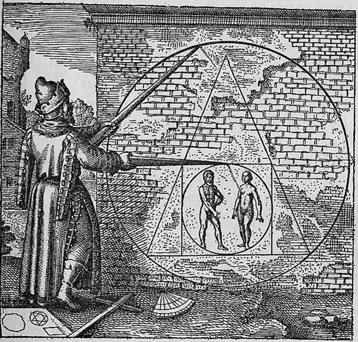 """""""Piedra Filosofal"""". Ilustración del Atalanta Fugiens, Emblema 21. (1617) (Public Domain)"""