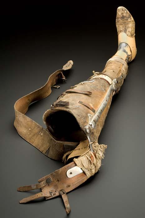 Pierna artificial, Inglaterra, 1890-1950. (Museo de la Ciencia de Londres)