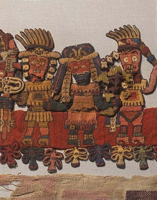 Detalle de una pieza textil Paracas hallada en la década de 1920. (Brooklyn Museum)