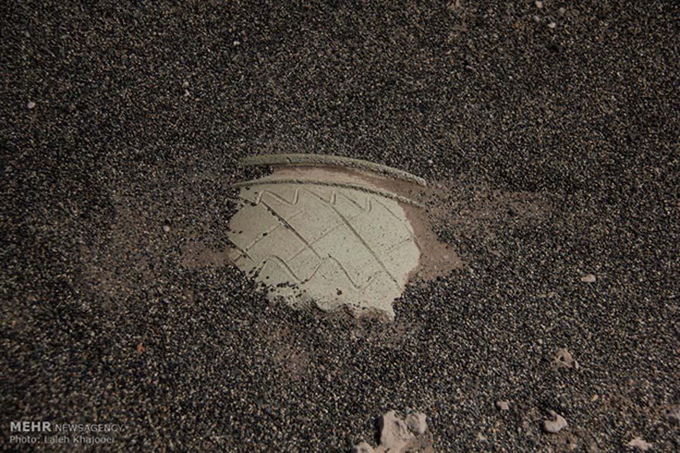 El yacimiento no parece ser muy pródigo en hallazgos, ya que hasta ahora los investigadores solo han encontrado fragmentos de piezas de barro y adobe, además de algunas estructuras. (Agencia de Noticas MEHR / Fotografía: Laleh Khajooei)