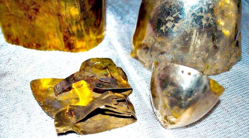 Algunas de las piezas recuperadas en las faldas del cerro Ilucán, ubicado en Cutervo, departamento de Cajamarca, en la sierra norte de Perú. (Fotografía: Arqueología del Perú).