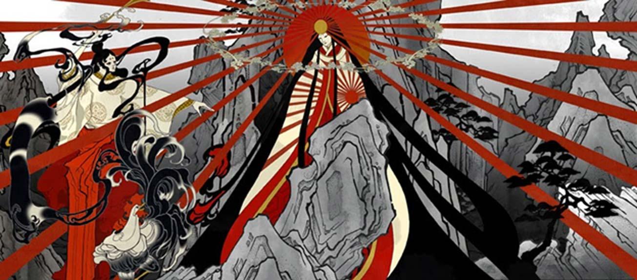 Pintura de Amaterasu. (Aya Kato)