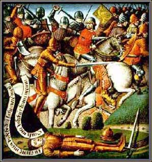 Pintura anónima del siglo XV sobre la batalla del Paso de Roncesvalles. (Public Domain)