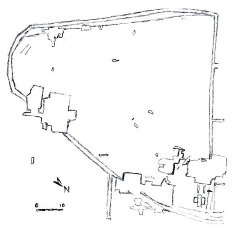 Plano de los yacimientos 1 y 2 de Dolní Věstonice. (Sarahfennel/CC BY-SA 3.0)