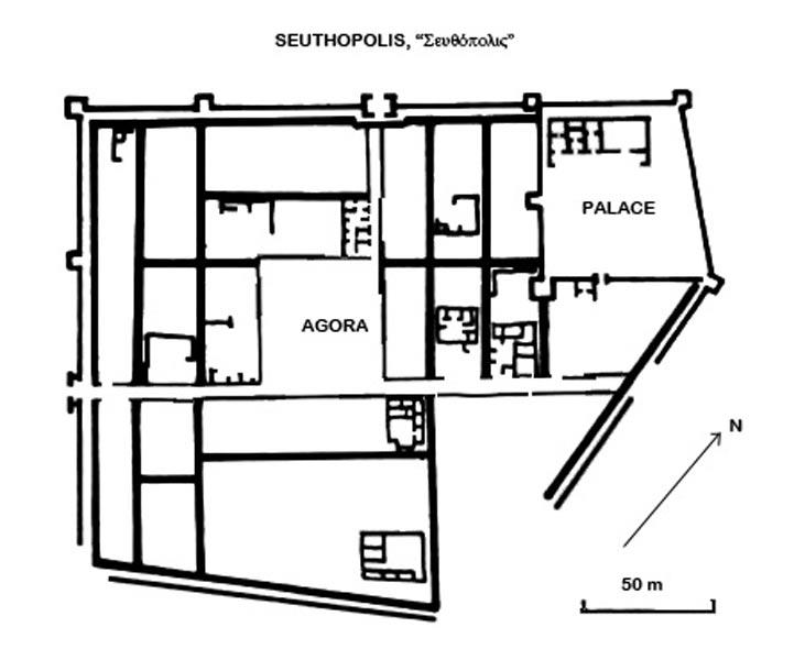 Planta de la ciudad de Seutópolis. (Megistias/CC BY SA 2.5)