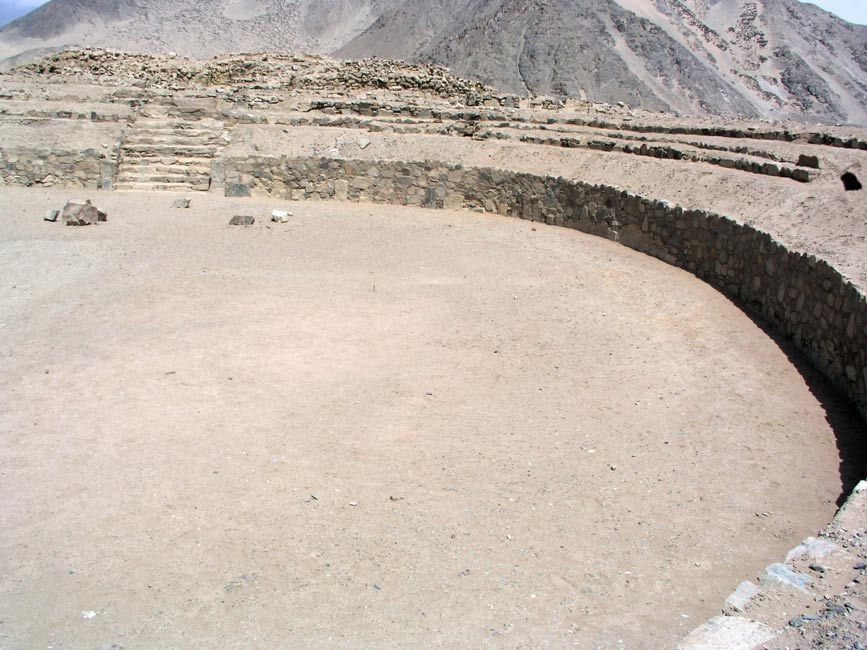 Plaza circular de Caral-Supe (Foto: Håkan Svensson/Wikimedia Commons)