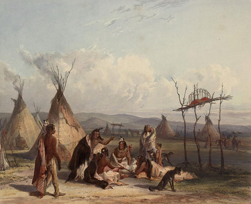 Miembros de la tribu de los Sioux (Public Domain)