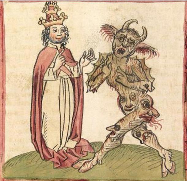 El Papa Silvestre II y el Diablo (public domain)
