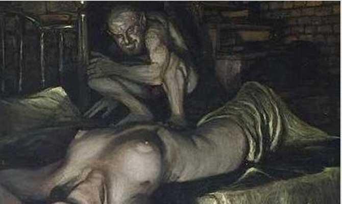 Ilustración del primer vampiro (undiscoveredcroatia.blogspot.com)
