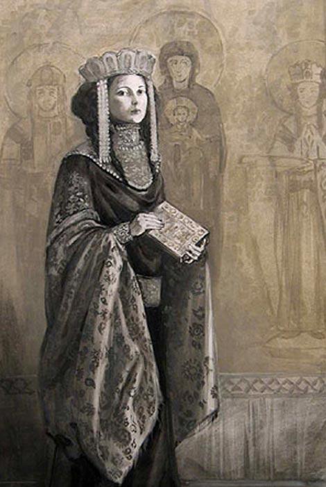 Retrato de la Princesa Ana Comnena. Autor y fecha desconocidos. (pinterest.com)