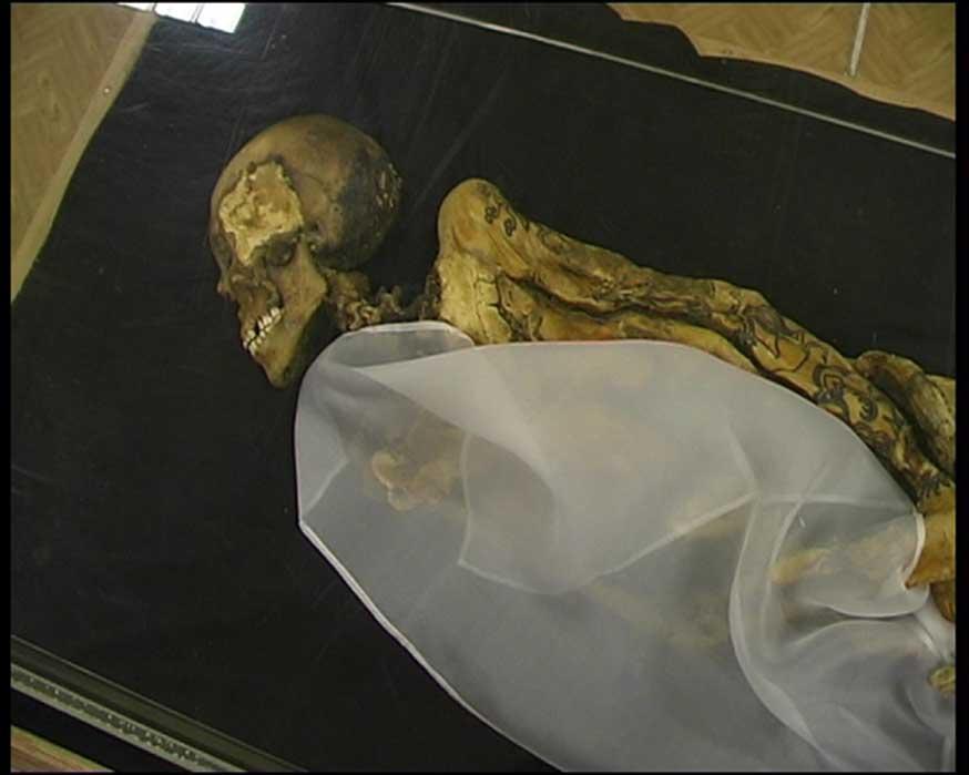 Princesa Ukok/princesa del Altái: momia descubierta en el año 1993 en un kurgán situado en la remota meseta de Ukok, república de Altái, Rusia. (Dominio público)