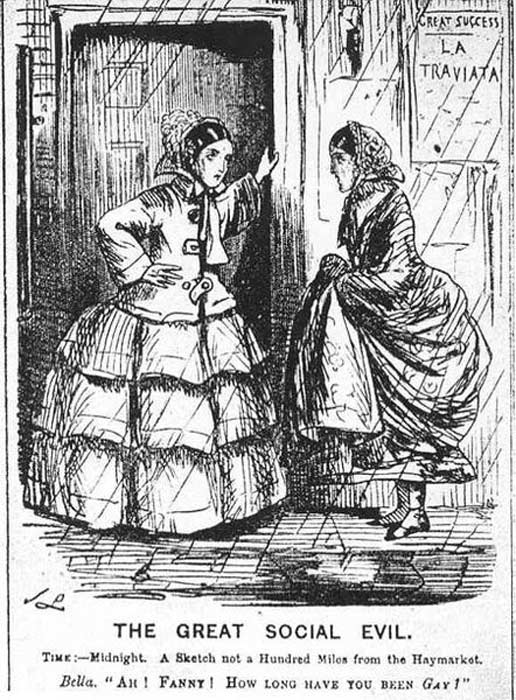 Prostitutas de la época victoriana. (Public Domain)