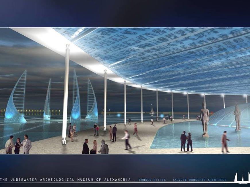 Diseño propuesto para el museo submarino de Alejandría. Imagen: © UNESCO/Rougerie