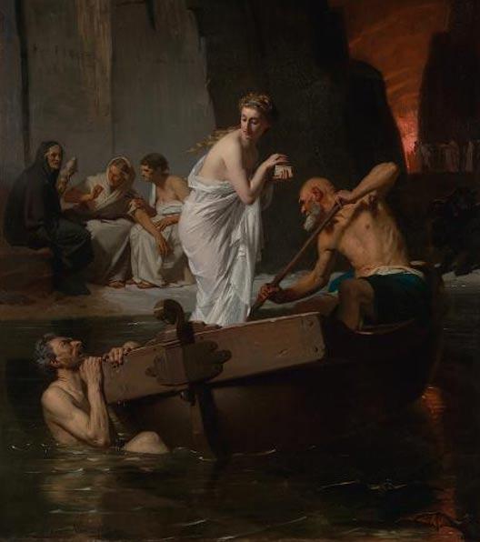 Psyché aux enfers - Psyche en el infierno, por Eugene-Ernest Hillemacher (1865)