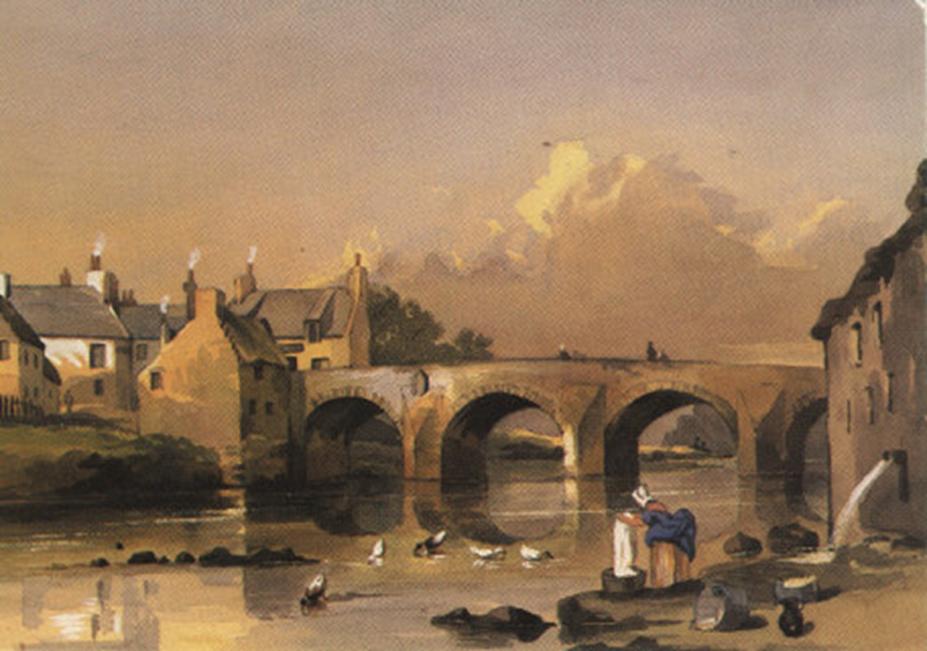 Puente de Partick sobre el río Kelvin, 1846. (Gregor Macgregor)
