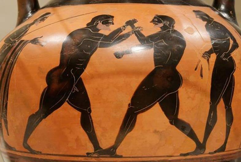 Antiguos pugilistas griegos. (CC BY 2.5)