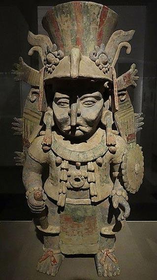 Quemador de incienso que representa al dios maya de la lluvia, Chac. (Public Domain)