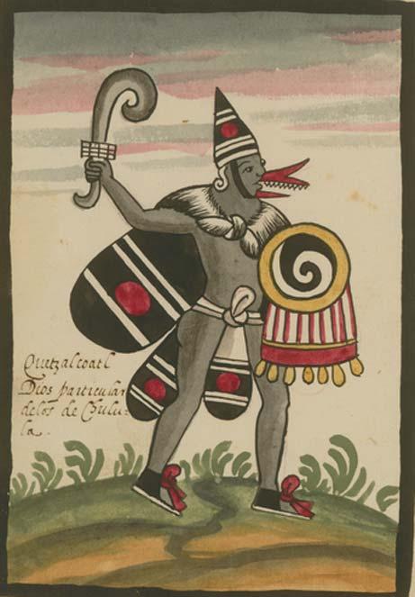 Quetzalcóatl en el Códice Tovar, manuscrito posterior a la conquista. (Dominio público)