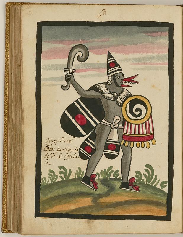 Ilustración de Quetzalcóatl perteneciente al Códice Tovar. Biblioteca John Carter Brown, Rhode Island, Estados Unidos. (Public Domain)
