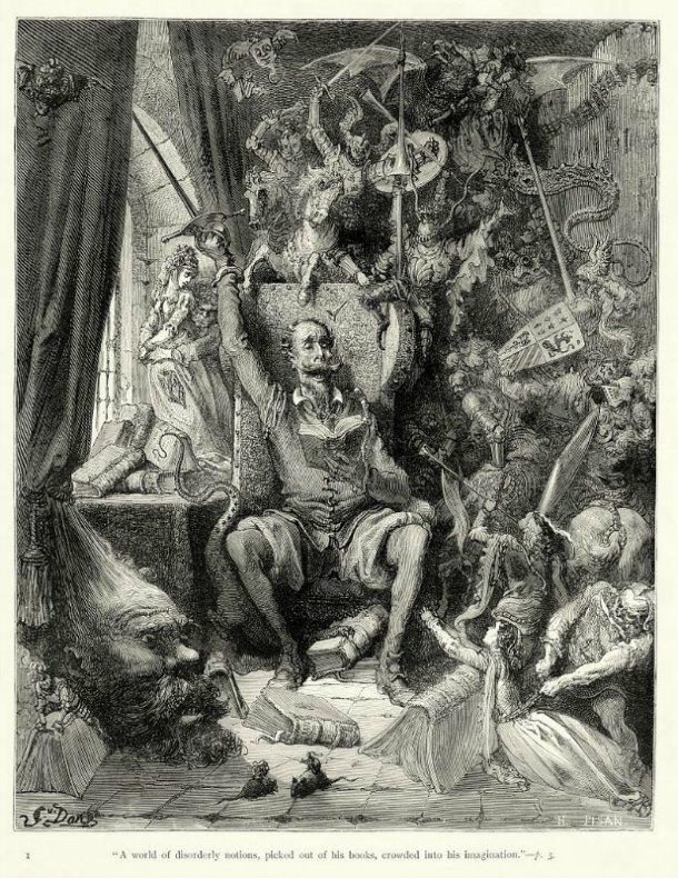 """Una de las múltiples ilustraciones que realizó el artista Gustave Doré (1832–1883) para una edición inglesa de """"La Historia de Don Quijote"""".(Public Domain)"""