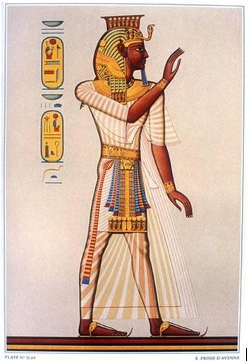 Ramsés III. (tumba de Ramsés III). Antes de 1879, por Emile Prisse d'Avennes