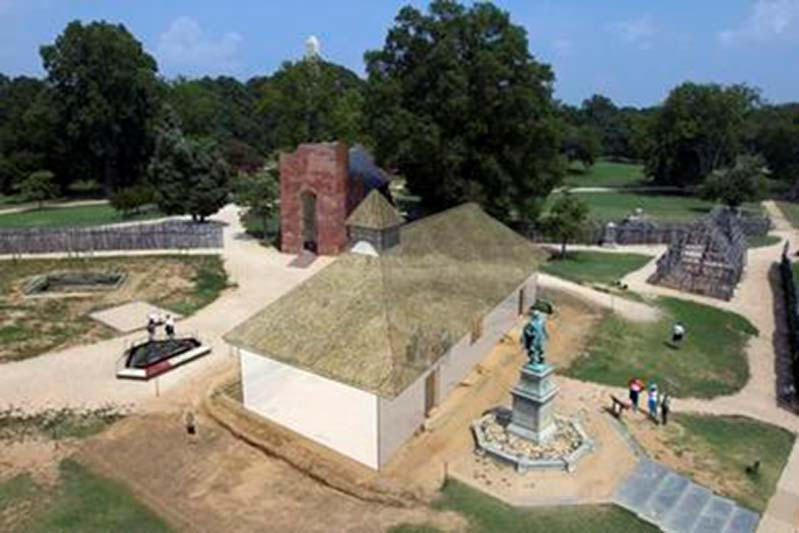 Reconstrucción del posible antiguo aspecto de Jamestown (Public Domain)