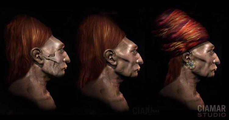 En esta reconstrucción digital del posible aspecto de los Paracas, realizada por la artista Marcia Moore a partir de cráneos Paracas, podemos observar los típicos pómulos pronunciados de este pueblo. (Marcia Moore / Ciamar Studio)