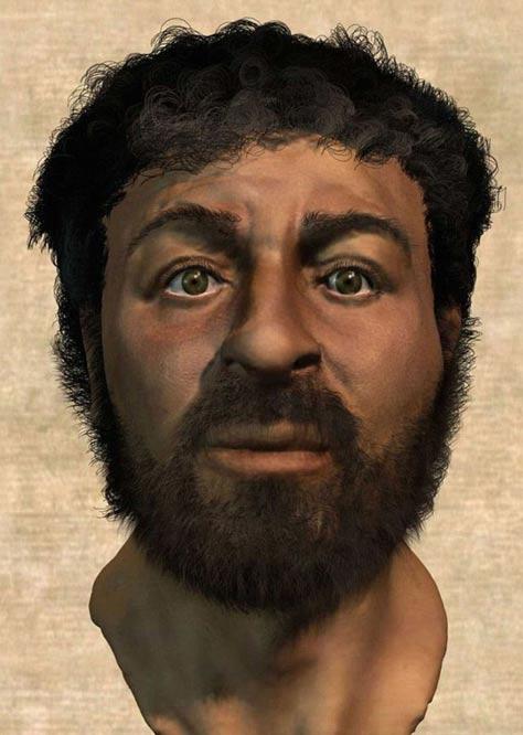 Richard Neave ha recreado el rostro de Jesús (en la imagen) utilizando técnicas forenses. El resultado contrasta notablemente con la representación habitual de Jesús en el mundo occidental: un hombre de piel clara con larga cabellera ondulada y cuidada barba. (Imagen: Popular Mechanics)