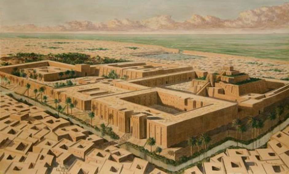 Reconstrucción artística de la ciudad sumeria de Ur. (Kings Academy)