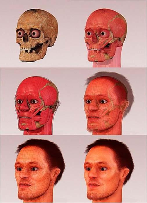 Reconstrucción facial forense de ALberto di Trento por Arc-Team y Cicero Moraes. (Cicero Moraes / CC BY-SA 4.0)