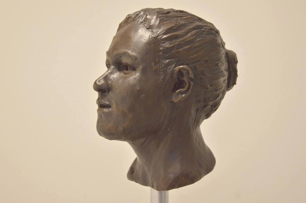 Recreación del cráneo neolítico de Ballynahatty, realizada por Elizabeth Black. (Silicon Republic)