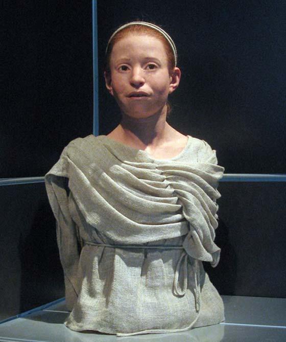 Reconstrucción del aspecto de Myrtis, Museo Arqueológico Nacional de Atenas. (CC BY-SA 2.0)