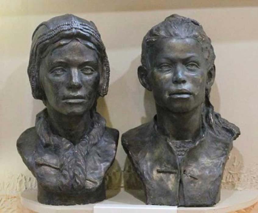 Reconstrucción del posible aspecto de los niños de la tumba de Sunghir. (wowavostok)