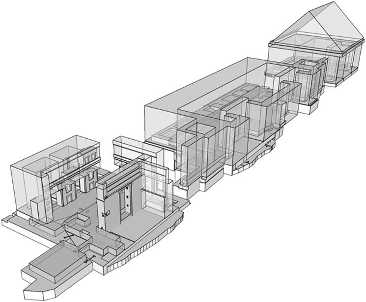 Reconstrucción virtual del edificio entero, construido originalmente de andesita. (© Alexei Vranich, Heritage Science/CC BY 4.0)