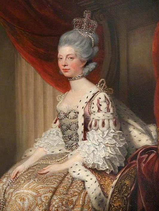 Reina Charlotte en Traje de Estado. (Huelam987 / Dominio Público)