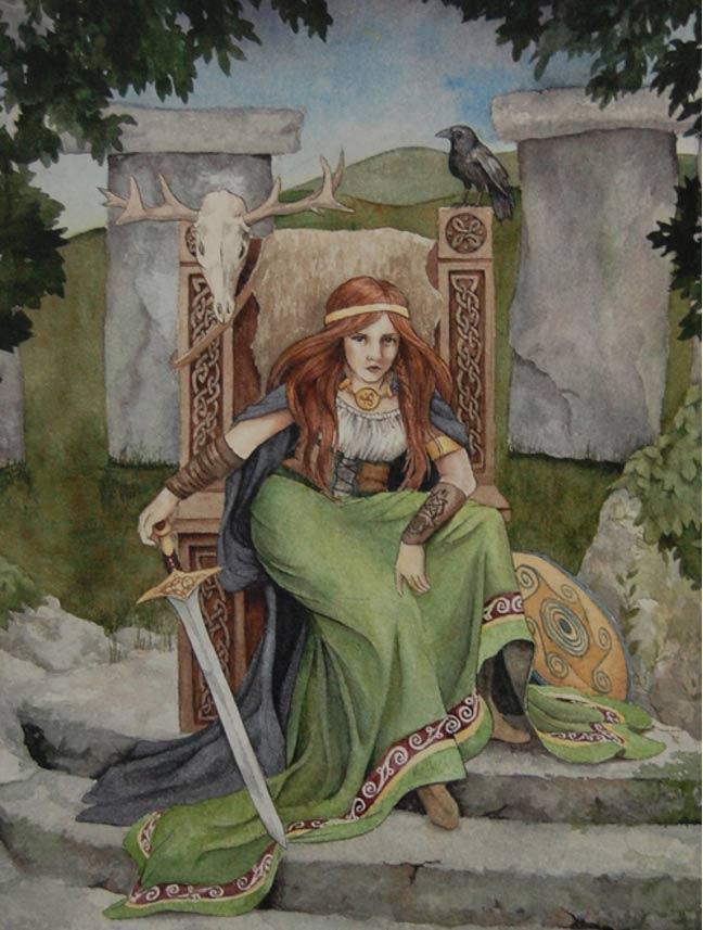 Según las leyendas, Medb era una reina guerrera. (Michelle Hunt)